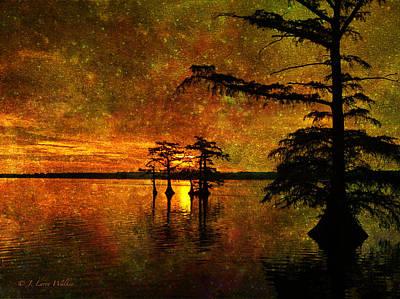 Sunrise Mystique Print by J Larry Walker