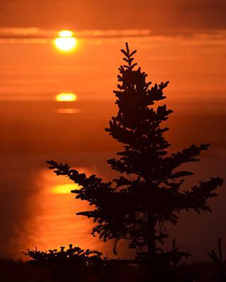 Desert Island Digital Art - Sunrise On Cadillac Mountain Bar Harbor Maine by Toby McGuire