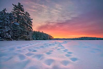 Sunrise On Keoka Lake Print by Darylann Leonard Photography