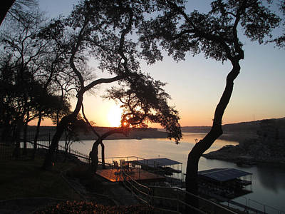 Sunrise On Lake Travis Original by Kevin Caudill