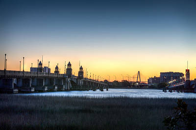 Sunrise On The Ashley River Print by Walt  Baker