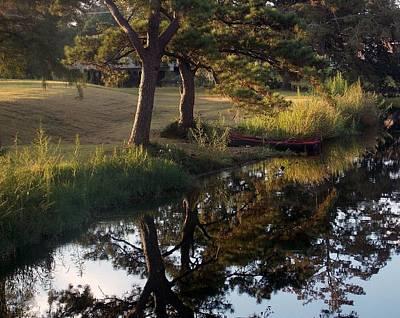 Sunrise On The Bayou Print by John  Glass