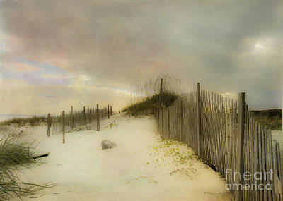 Sand Fences Digital Art - Sunrise On The Beach by Betty LaRue