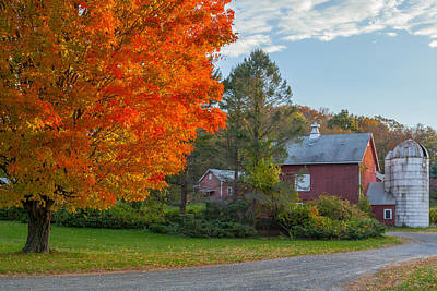 New England Dairy Farms Photograph - Sunrise On The Farm by Bill Wakeley