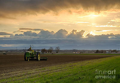 Sunrise On The Farm Print by Idaho Scenic Images Linda Lantzy