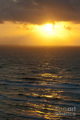 Photograph - Sunrise On The Gulf by Barbara Shallue
