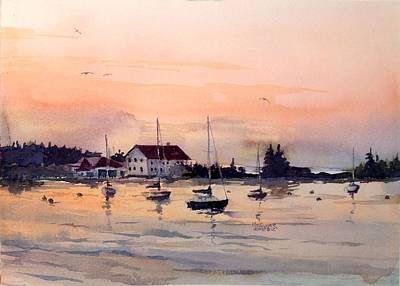 Minnesota Painting - Sunrise On The Harbor by Spencer Meagher