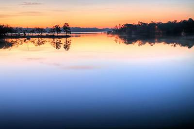 Sunrise On Toms Bayou Valparaiso Print by JC Findley