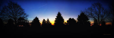 Sunrise Over East Lawn Panorama Print by Thomas Woolworth