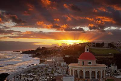 Sunrise Over Historic Santa Maria Print by Brian Jannsen