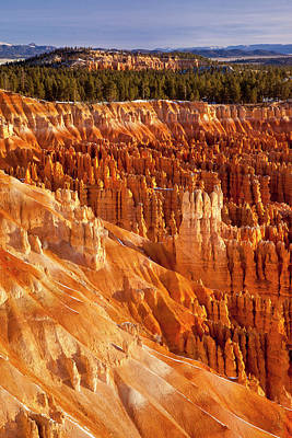 Pinnacle Overlook Photograph - Sunrise Over Inspiration Point, Bryce by Brian Jannsen