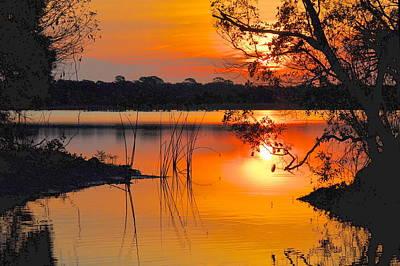 Sunrise Over Orlando Wetlands Print by AnnaJo Vahle
