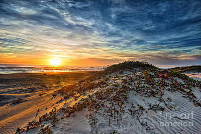 Surf Photograph - Sunrise Over The Dunes by Tod and Cynthia Grubbs