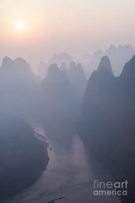 Sunrise Over The Karst Peaks - China Print by Matteo Colombo