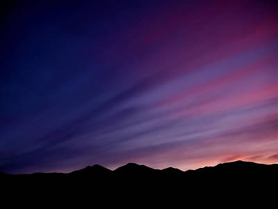 Nature Photograph - Sunrise Over The Mountains by Rona Black