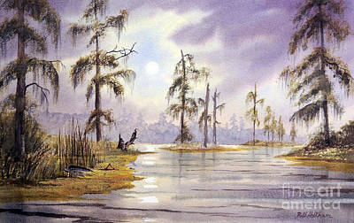 Anhinga Painting - Sunrise Over Wakulla River by Bill Holkham