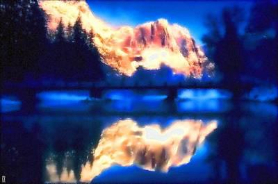 Manipulation Photograph - Sunrise Over Yosemite by Mario Carini