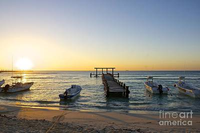 Sunrise -  Playa Del Carmen Print by Sean Griffin