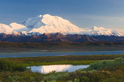 Sunrise Scenic Of Mt. Mckinley Print by Michael DeYoung