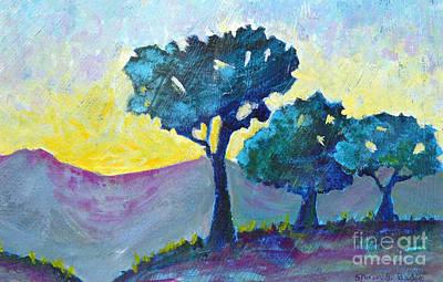 Sunrise Print by Shirin Shahram Badie
