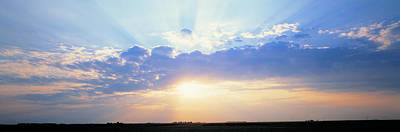 Radiates Photograph - Sunrise Stelle Il Usa by Panoramic Images