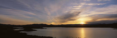 Mead Photograph - Sunrise Temple Bar Lake Mead by Panoramic Images