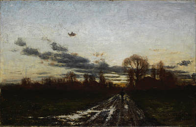 Steele Painting - Sunrise by Theodore Clement Steele