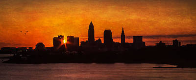 Sunrise Through The City Print by Dale Kincaid