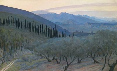 Italian Landscapes Painting - Sunrise Umbria 1914 by Sir William Blake Richmond