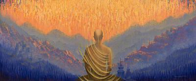 Sunrise Print by Vrindavan Das