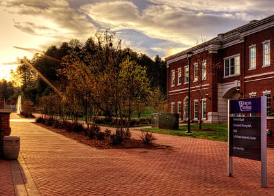 Sunrise Walk At Western Carolina University Print by Greg Mimbs