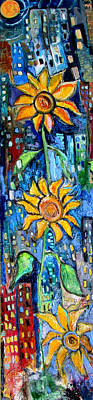 Painting - Sun's In The City  by Jon Baldwin  Art
