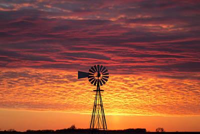 Windmill Photograph - Sunset 218 Part 3 by Chris Harris