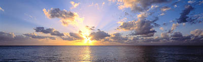 Transcend Photograph - Sunset 7 Mile Beach Cayman Islands by Panoramic Images