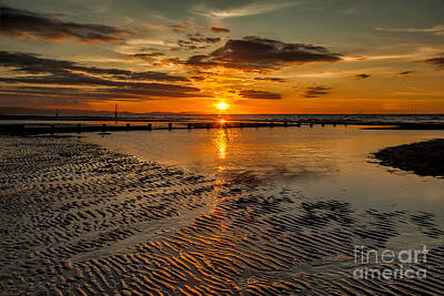 Great Britain Digital Art - Sunset  by Adrian Evans