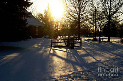 Sunset After The Snow Storm Print by Luther   Fine Art