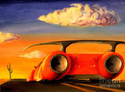 Road Rod Painting - Sunset by Alisa Bogodarova