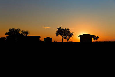 Sunset And Farm  Alliance Ne Print by Troy Montemayor