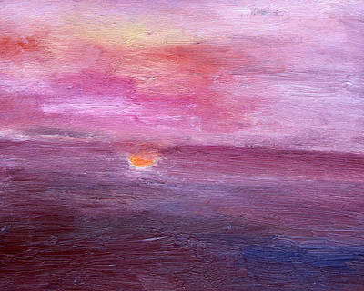 Cycles Painting - Sunset And Ocean by Vadim Levin