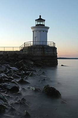 Lighthouses Photograph - Sunset At Bug Light  by Juergen Roth