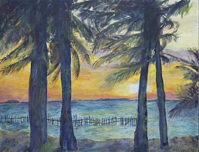 Sunset At Buho's Print by Nick Vogel