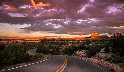 Sunset At Canyon Lands Print by Michael J Bauer