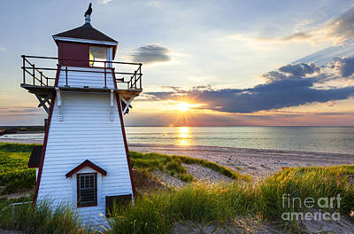 Atlantic Beaches Photograph - Sunset At Covehead Harbour Lighthouse by Elena Elisseeva