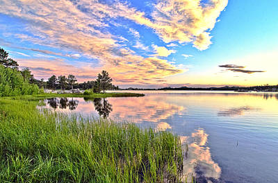 Mixed Media. Mixed Media Sunset . Mixed Media Colorado Sunset Photograph - Sunset At Dowdy Lake by James Steele