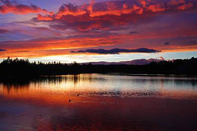 Sunset At Farewell Bend Park Print by Engin Tokaj