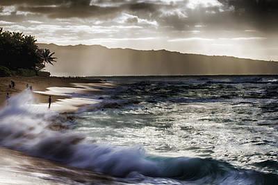 Haleiwa Photograph - Sunset At Haleiwa Beach Oahu Hawaii V2 by Douglas Barnard