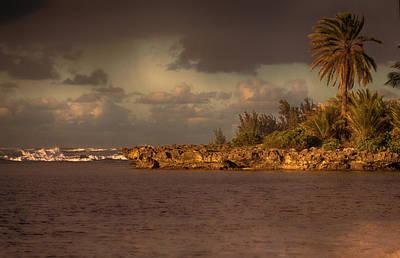 Haleiwa Photograph - Sunset At Haleiwa Beach Oahu Hawaii V3 by Douglas Barnard