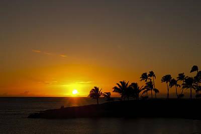 Ko Olina Lagoon Photograph - Sunset At Ko Olina by Scott Terna