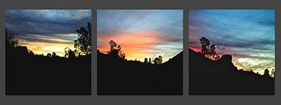 Outdoors Photograph - Sunset At Pinnacles 16 Minute Separation by SC Heffner