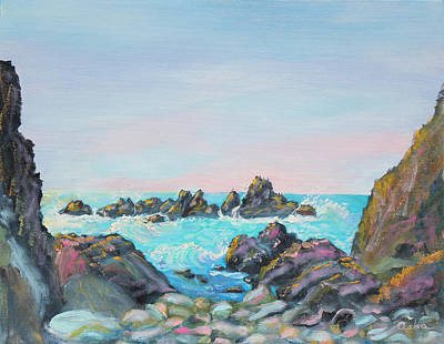 Sunset At Reef Cove Print by Asha Carolyn Young